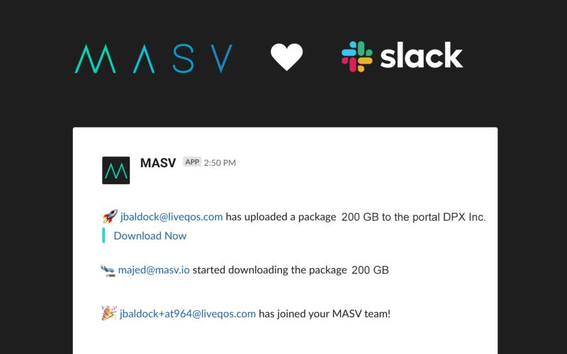MASV Slack Integration